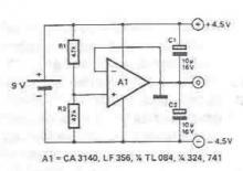 Symmetrical voltage power supply circuit