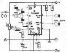 TSC9402 voltage-frequency converter circuit diagram