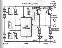 LTC1042 TTL signals monitor circuit diagram