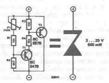 Variable voltageZener circuit diagram project